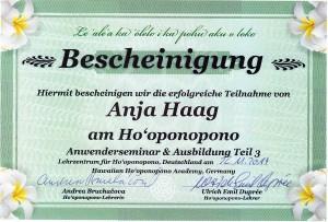 Ho'opono'pono Anja Haag Hamburg
